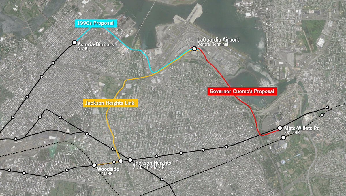 For LaGuardia an AirTrain that will save almost no one any time