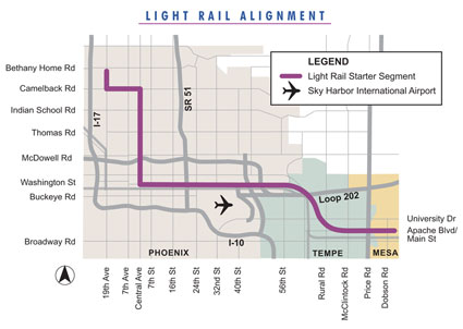 Phoenix Light Rail Map