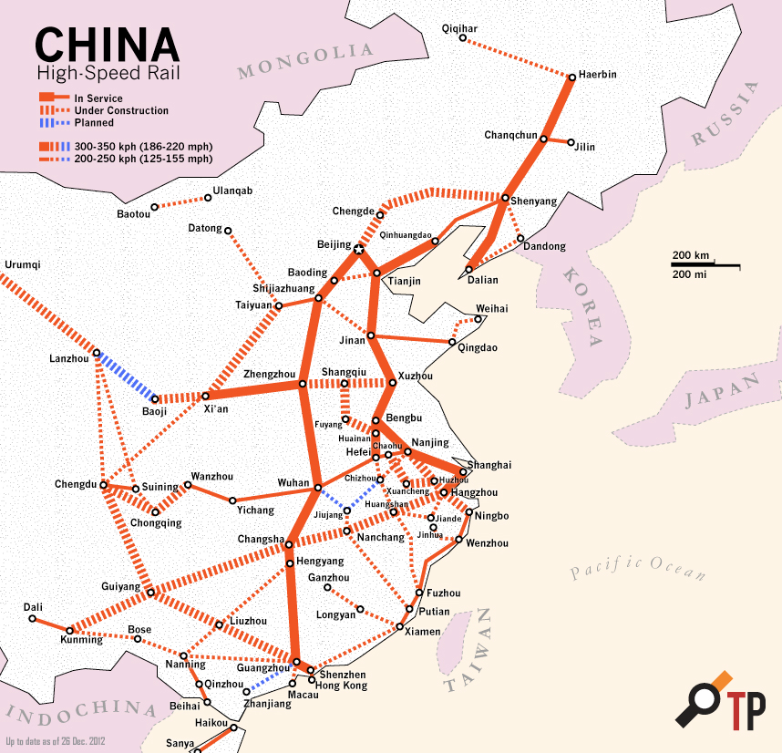 Highspeed Rail In China « The Transport Politic: High Speed Train Route Map Europe At Infoasik.co