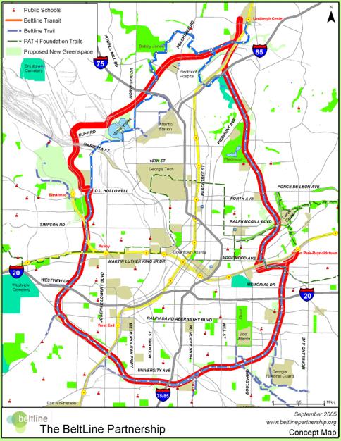 Atlanta Beltline Map
