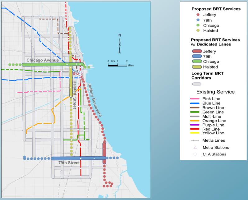 Chicago Bus Rapid Transit Corridors