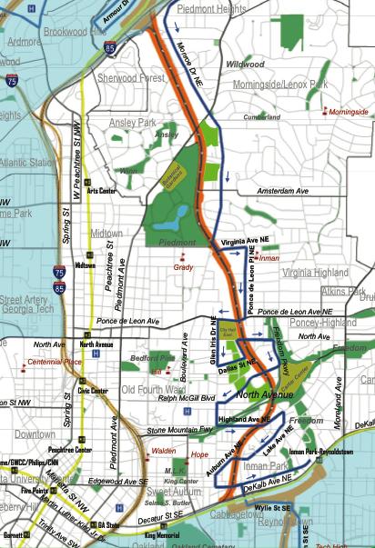 Atlanta Beltline Northeast Map