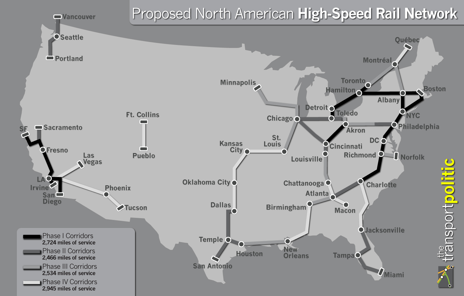 High Speed Rail Network Phasing