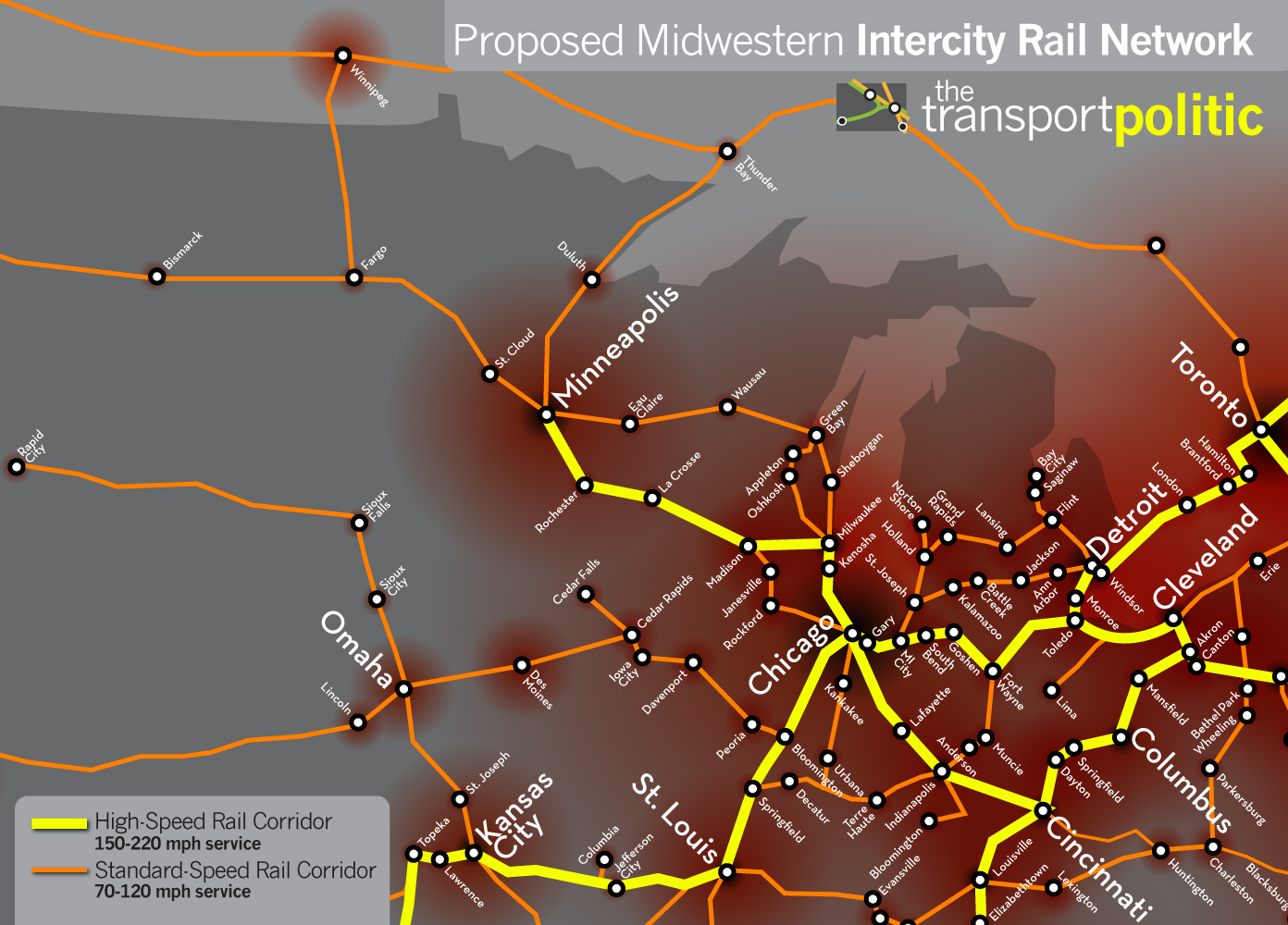 Midwest High Speed Rail Network