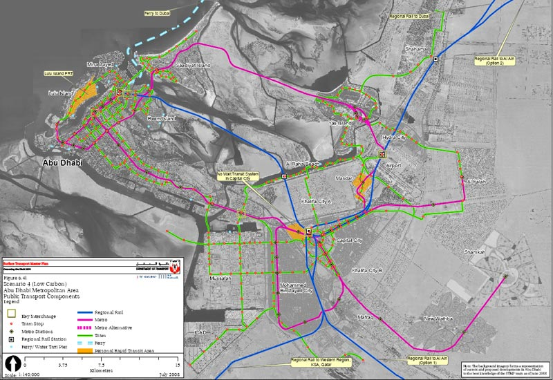Abu Dhabi Releases Ambitious Transport Plan The Transport Politic - Bus map abu dhabi