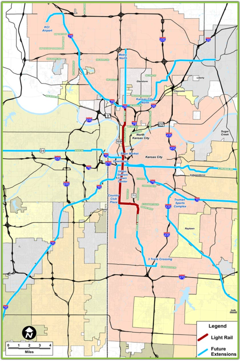 Proposed Kansas City Light Rail Map