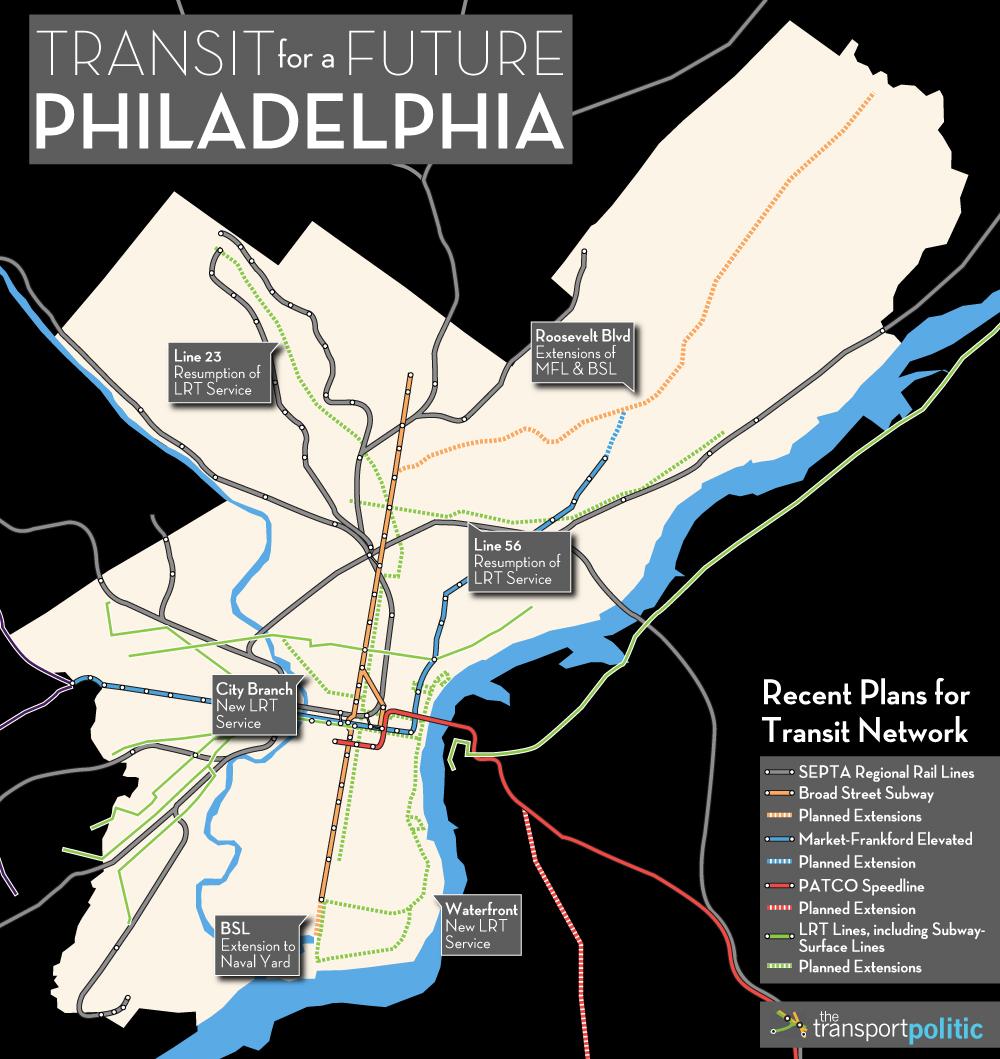 Existing Plans for Philadelphia Transit