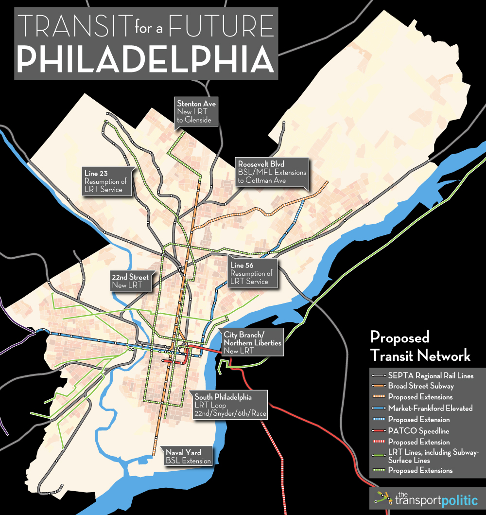Proposed Philadelphia Transit