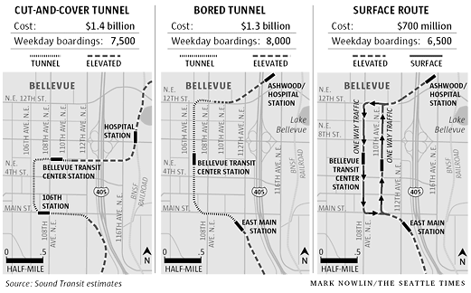 Bellevue Wants Underground Tunnel For Link Lrt But Microsoft Balks The Transport Politic