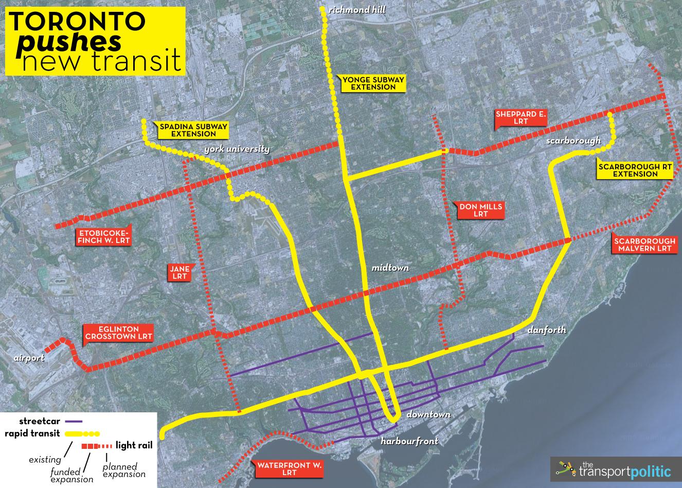 Toronto Transit Plans Map