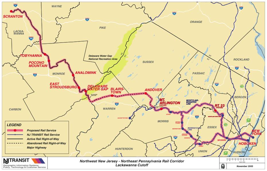 Lackawanna Cutoff Map
