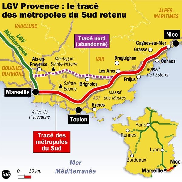 Marseille-Nice TGV Route