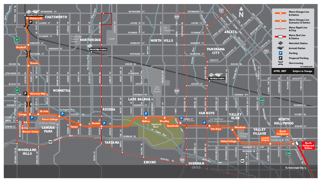 Is the metro orange line just a bus route burbank for The line los angeles