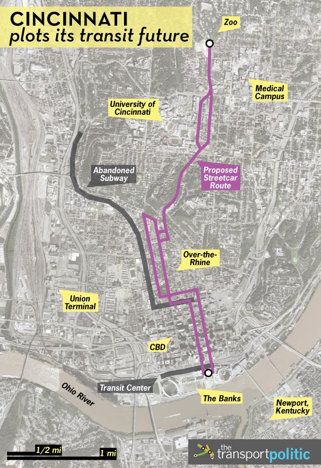 Cincinnati Future Transit Map