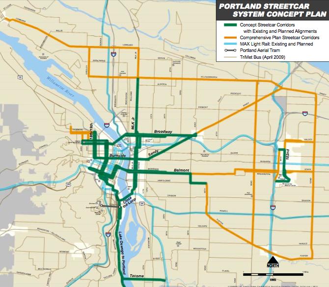 Portland Streetcar Concept Plan