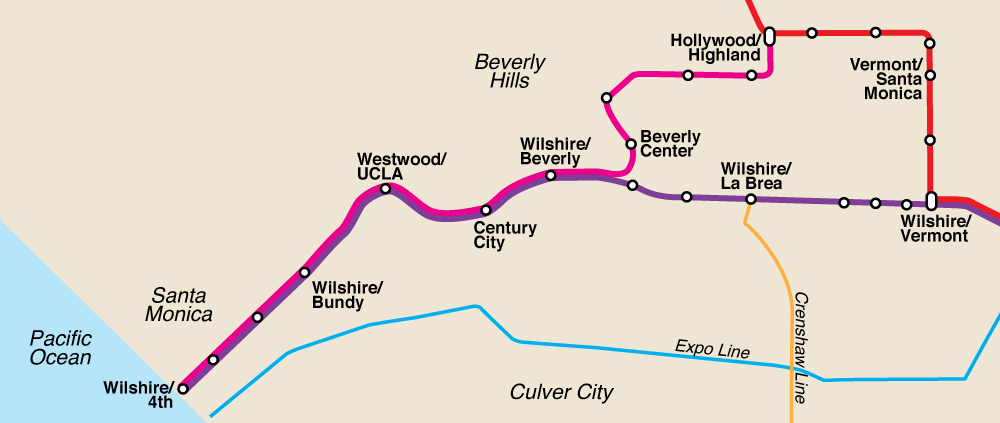 La Subway Map Red Line.Villaraigosa Campaigns For Westside Subway S Completion In Ten Years