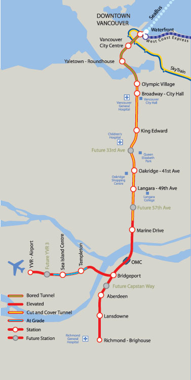 Canada Line Map Of Stations Vancouver Opens Canada Line — Months Ahead of Schedule – The