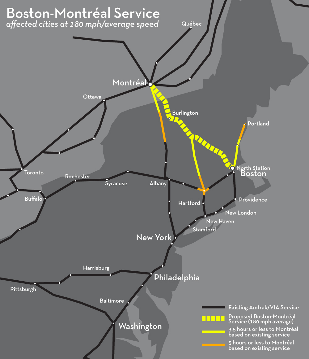 New England Rail Connections Boston-Montréal