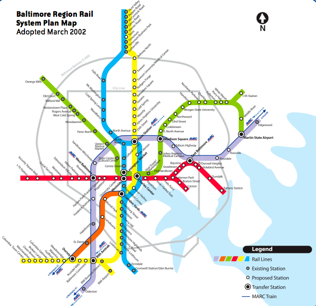 I was trying to find a light rail map and came across this. When