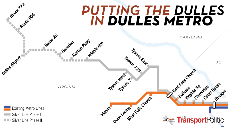 Silver Line Washington Dc Metro Map.Finding The Funding For Metro To Dulles Airport The Transport Politic
