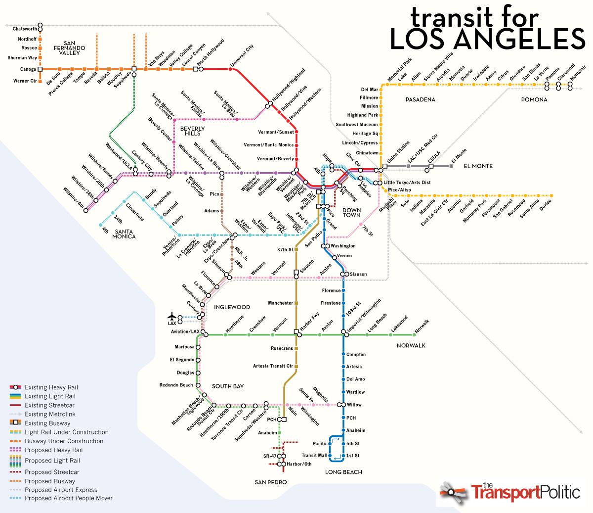 Metro Calitics - Los angeles metro expansion map