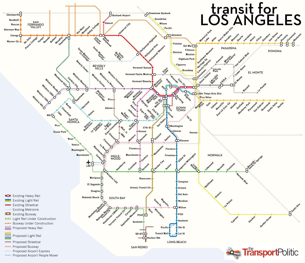 Los Angeles Public Transportation Map  Indiana Map