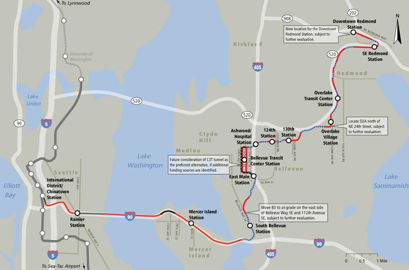 Seattles East Link I90 or SR520 The Transport Politic