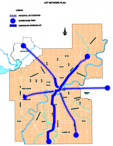 Edmonton Light Rail Network Plan Map