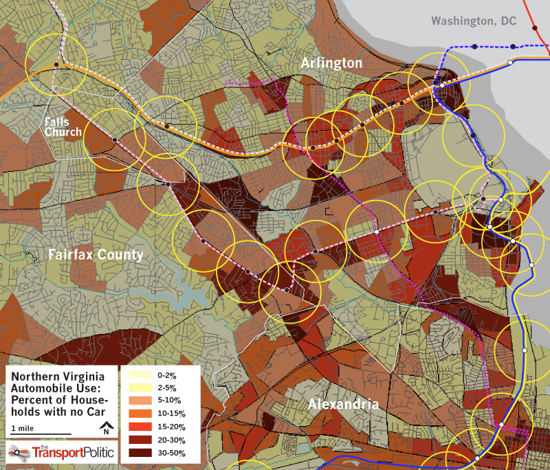 Northern Virginia No Car Households