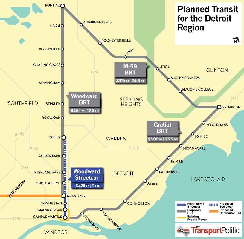 For Detroit BRT Or Rail First? U00ab The Transport Politic