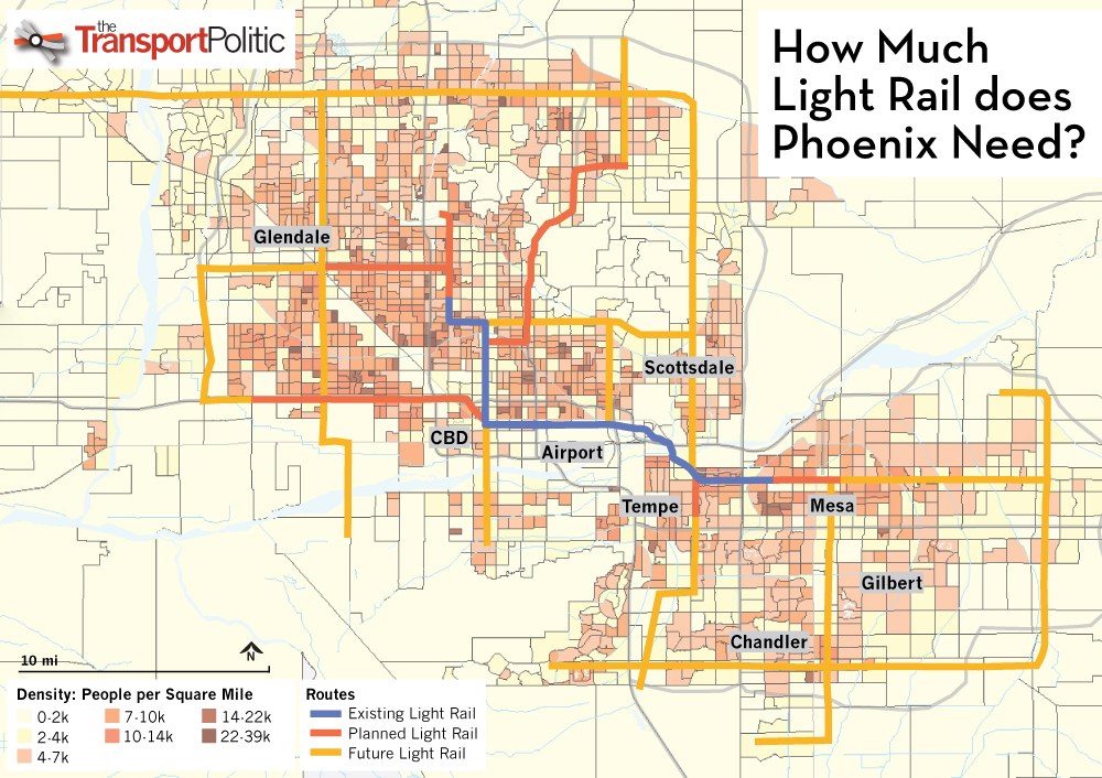 Phoenix Rail System Map More Light Rail Presents Itself as the Answer for a Growing