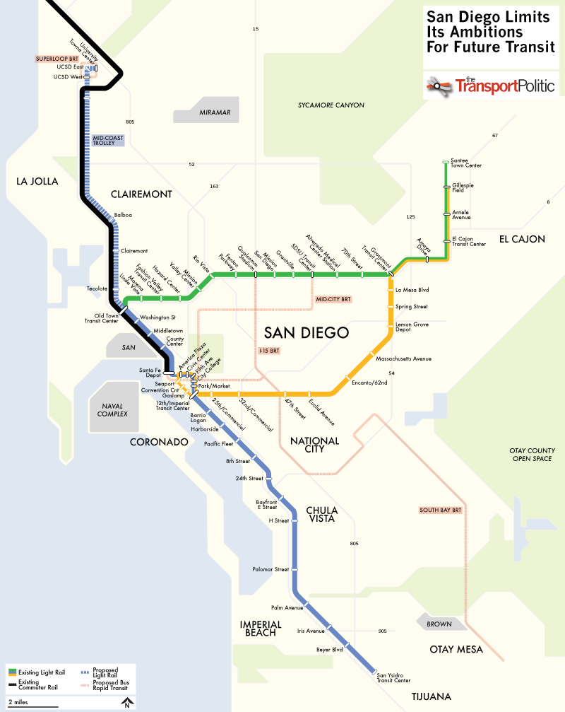 San Diego Future Transit Plans Map
