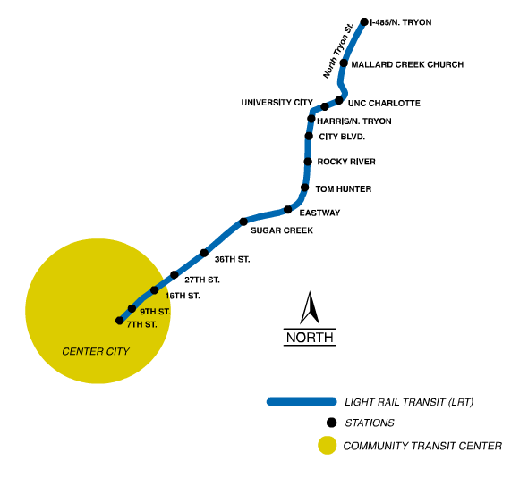 Charlotte Northeast Corridor Map