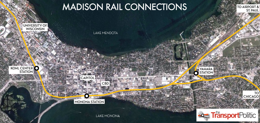 Madison Rail Connections Map