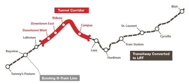 Ottawa LRT Route Map