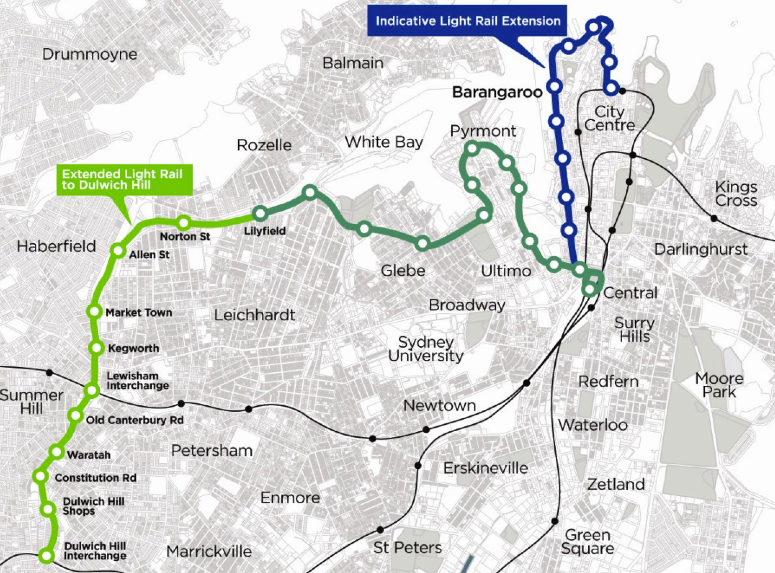 Sydney Light Rail Extension Plan
