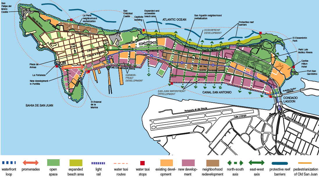 San Juan Unveils Plan for Walkable City Hopes for Light Rail on – Tourist Map Of San Juan Puerto Rico