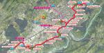 Besançon Tramway Map