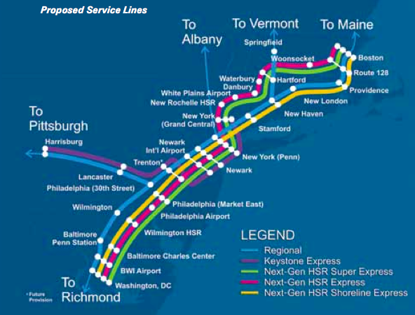 amtrak map east coast with Amtrak Unveils Ambitious Northeast Corridor Plan But It Would Take 30 Years To Be Realized on Great Amtrak Route Map Using Google Maps also List of Amtrak routes besides Fort Wayne Line Rebirth moreover  moreover Train Operating  pany  work Maps.