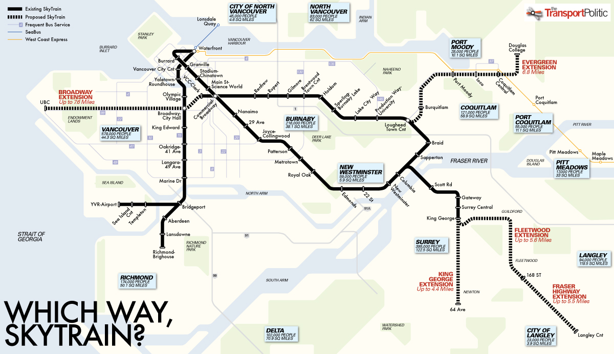Vancouver S Transit Trajectory Densify The Core Or Extend Out 171 The Transport Politic