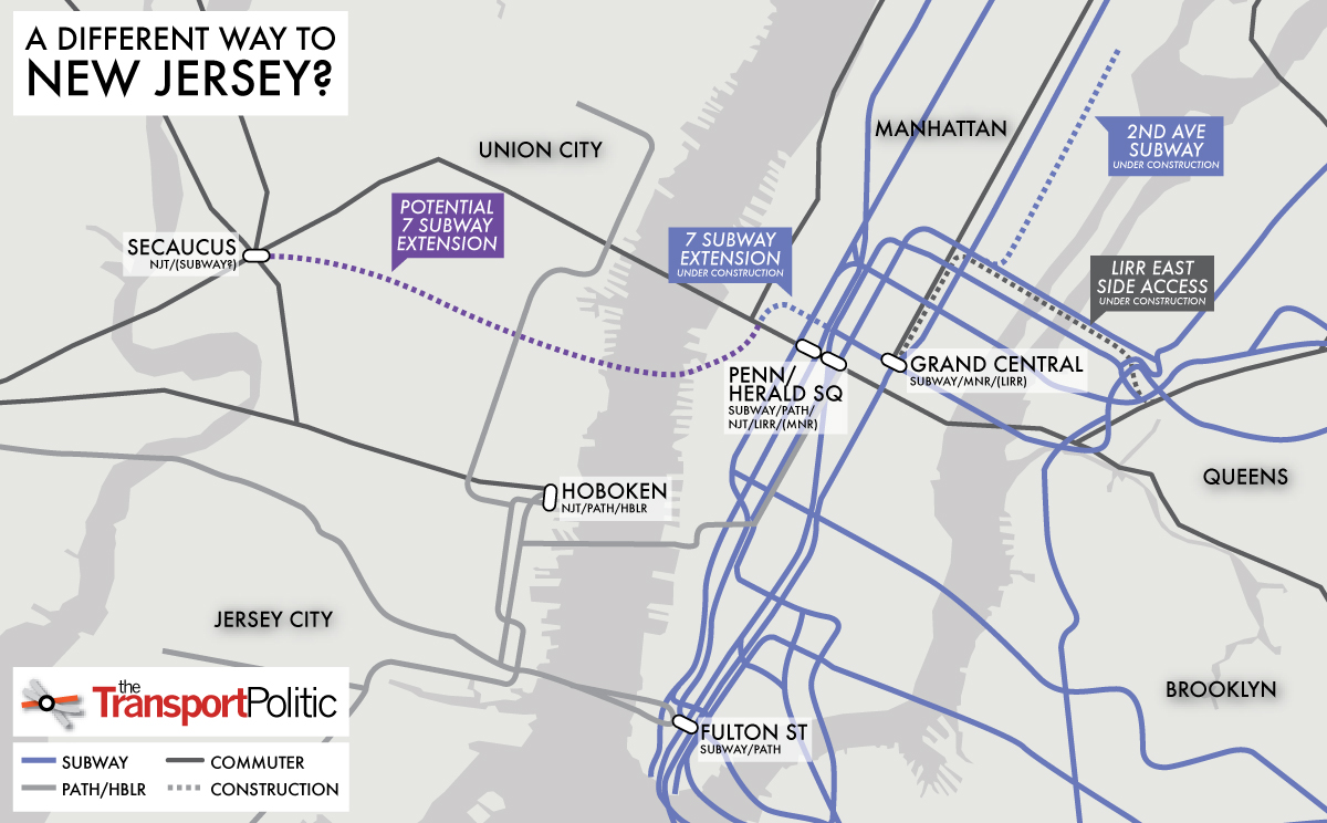 ny nj path map with To Replace The Arc Tunnel A Subway Extension To New Jersey on 348991 Tri State Area Pa N De S Nj Caravan To Carisle 2 likewise Empire State Gateway Map further Service Centers New York besides Nyc Subway Map 4 moreover The New York New Jersey Subway Map Designed Super Bowl.