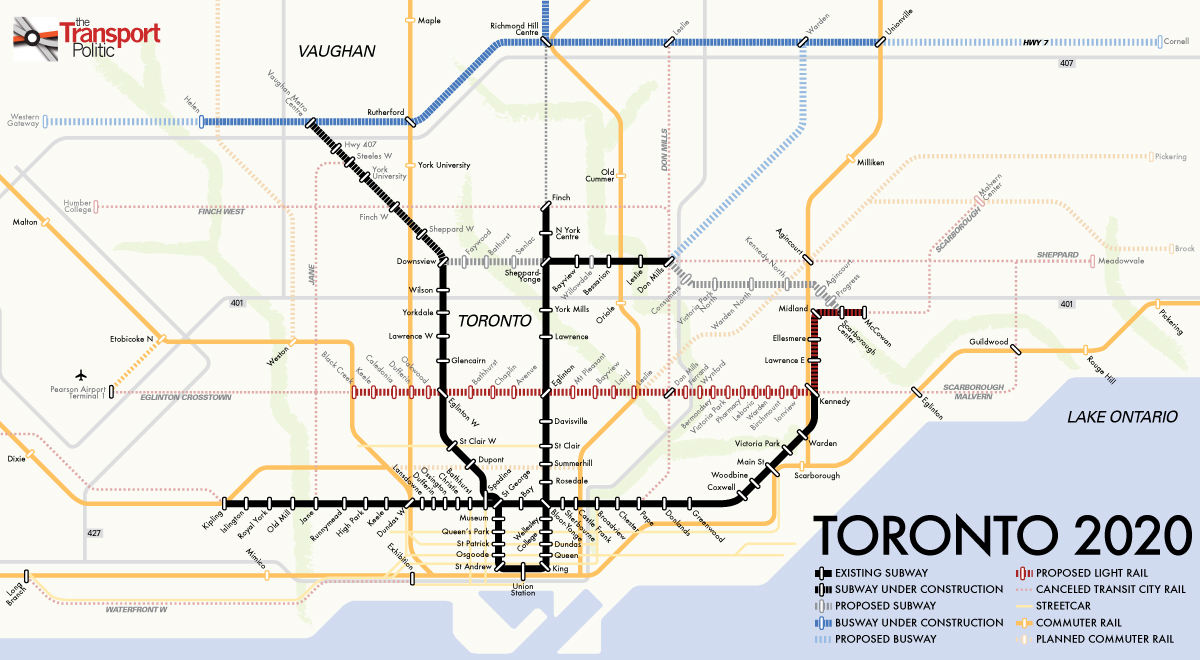 Agreement Reached Between Toronto And Ontario On City S Transit Future 171 The Transport Politic