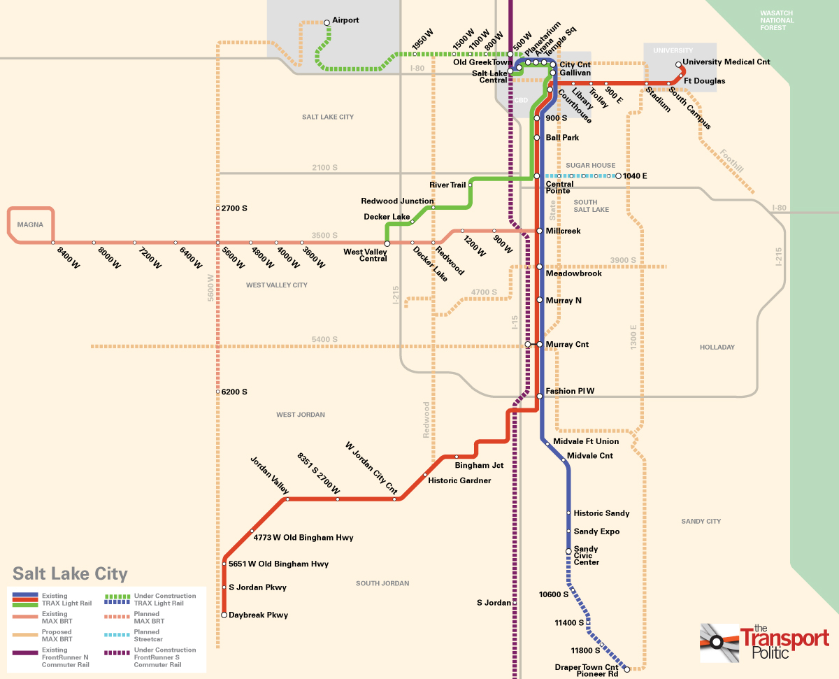 salt lake city public transportation map with Two Light Rail Extensions For Salt Lake With More On The Way on Live likewise munich Touristinfo also Railway stations in salt lake county  utah moreover Little America Hotel moreover Qinghai Lake.