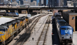 Amtrak and Union Pacific outside of Chicago