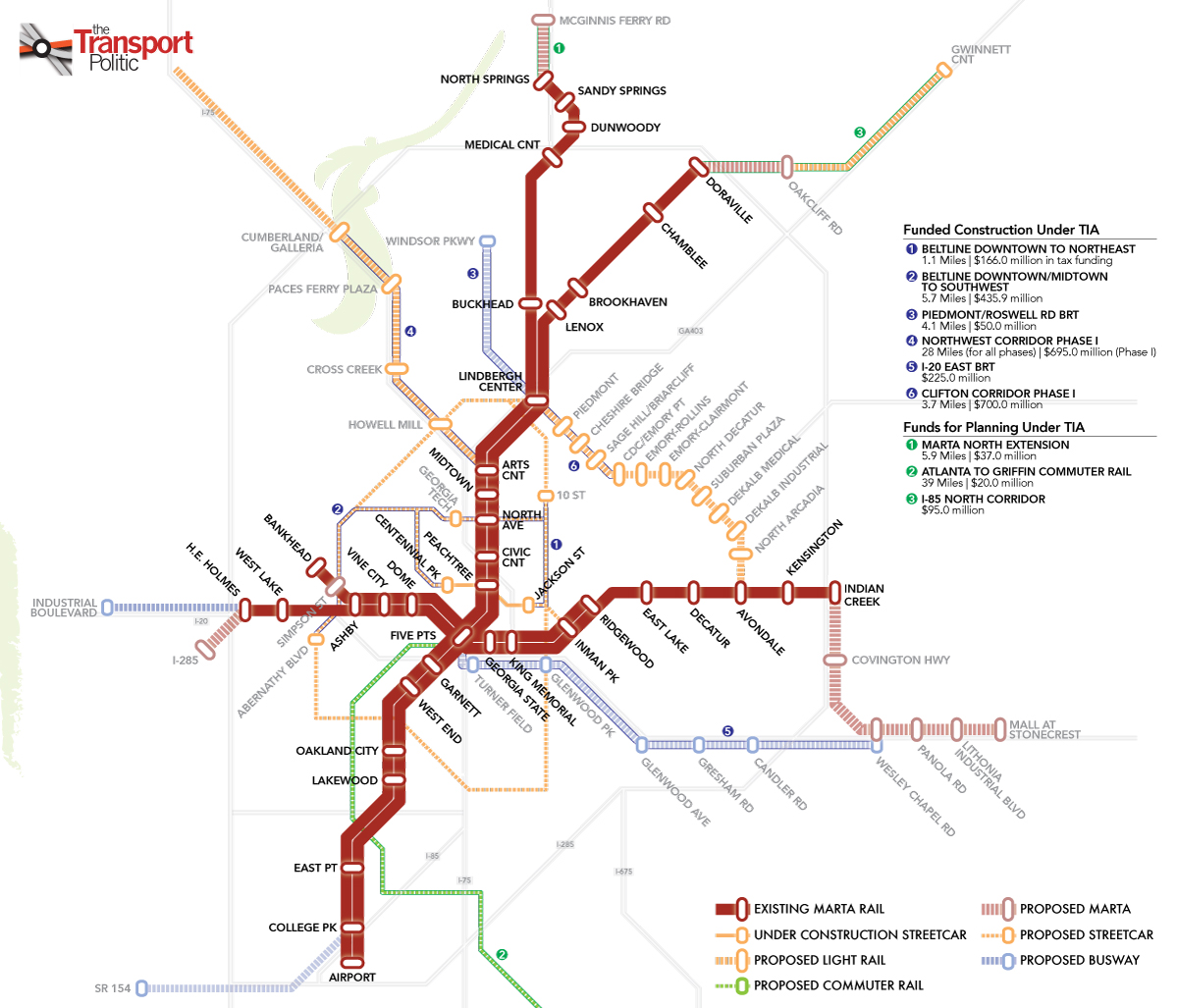 Atlanta Marta Train Route Map