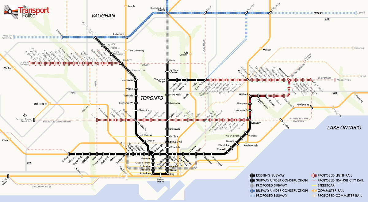 Toronto S Transit City Back In Play 171 The Transport Politic